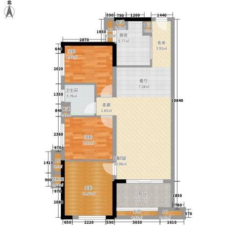 万科 城市风景3室0厅1卫1厨118.00㎡户型图