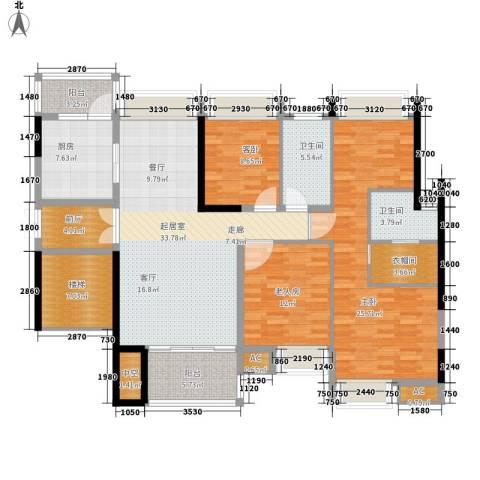 大信海岸家园3室0厅2卫1厨142.00㎡户型图