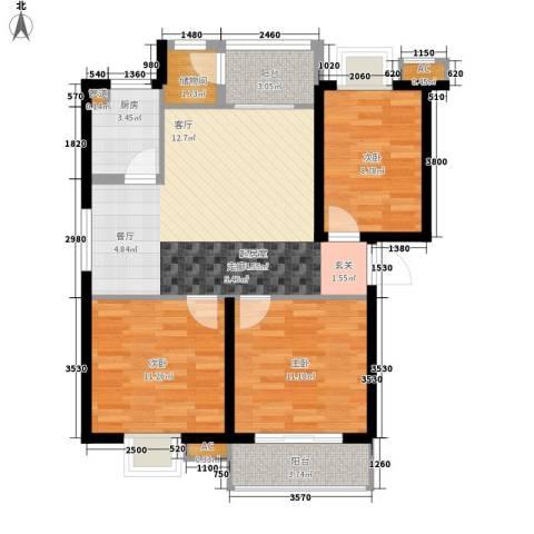 安康・丰景佳园三期3室0厅0卫1厨98.00㎡户型图