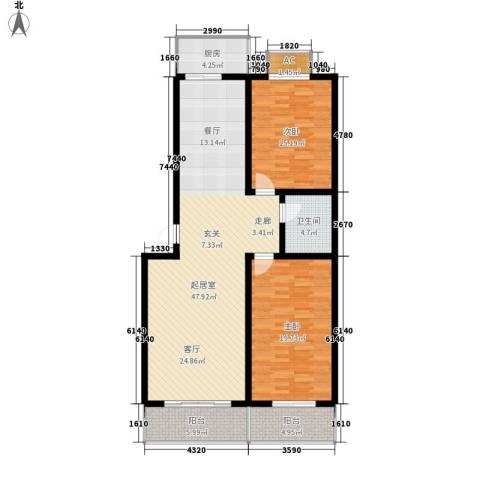 北小郭三期工程2室0厅1卫1厨117.00㎡户型图