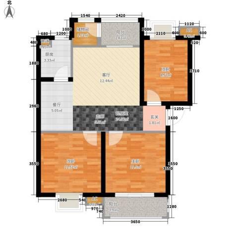 安康・丰景佳园三期3室0厅0卫1厨99.00㎡户型图