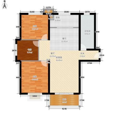 大顺花园3室0厅1卫1厨138.00㎡户型图