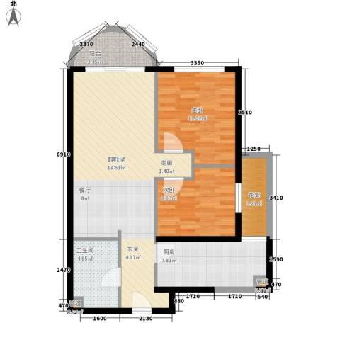 国际海景城2室0厅1卫1厨140.00㎡户型图