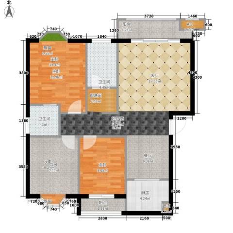 安康・丰景佳园三期3室0厅2卫1厨121.00㎡户型图