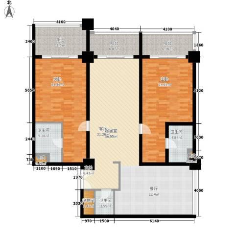 三亚国际公寓2室0厅3卫0厨200.00㎡户型图