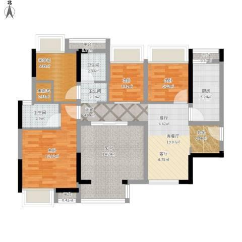 西湖怡景园3室1厅2卫1厨110.00㎡户型图