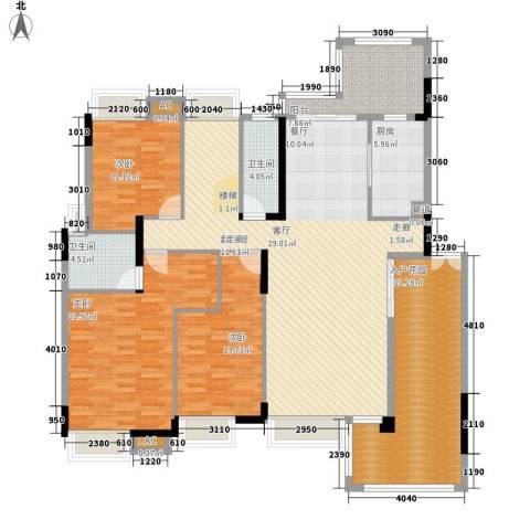 中核・缇香名苑3室0厅2卫1厨200.00㎡户型图