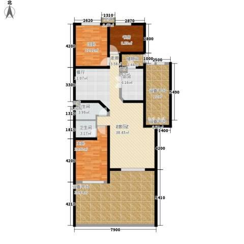 燕宇艺术家园3室0厅2卫1厨199.00㎡户型图
