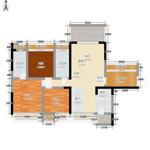 宝嘉上筑3室1厅2卫0厨104.00㎡户型图