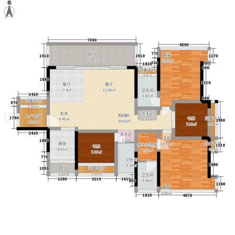 宝嘉上筑4室1厅3卫1厨147.00㎡户型图