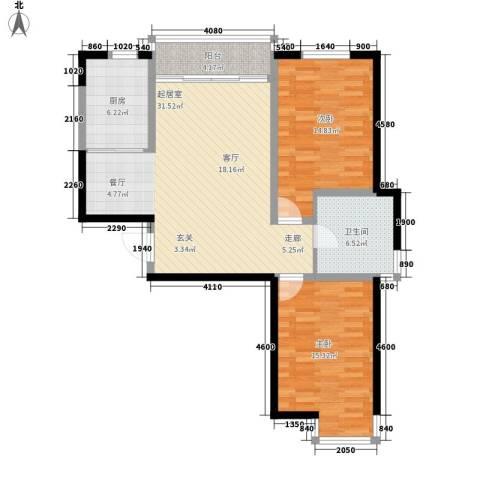 信泰金域仕家2室0厅1卫1厨112.00㎡户型图