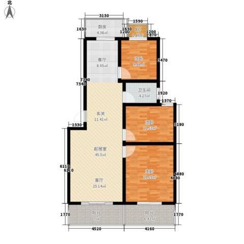 北小郭三期工程3室0厅1卫1厨122.00㎡户型图
