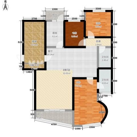 燕宇艺术家园3室0厅2卫1厨160.00㎡户型图