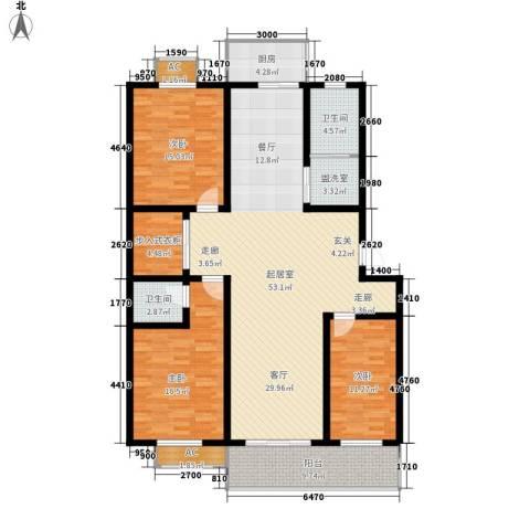 北小郭三期工程3室0厅2卫1厨146.00㎡户型图