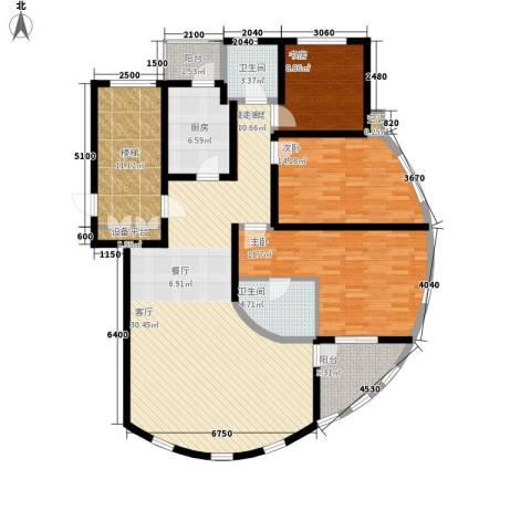燕宇艺术家园3室0厅2卫1厨176.00㎡户型图