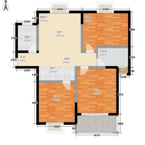 奥林・晴园3室1厅1卫1厨110.25㎡户型图