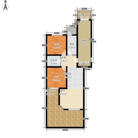 燕宇艺术家园2室0厅1卫1厨164.00㎡户型图
