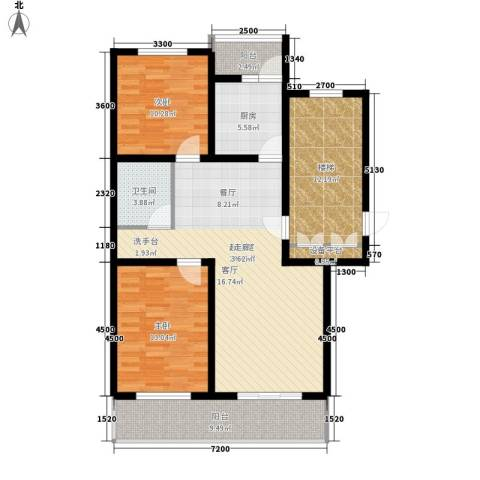 燕宇艺术家园2室0厅1卫1厨126.00㎡户型图
