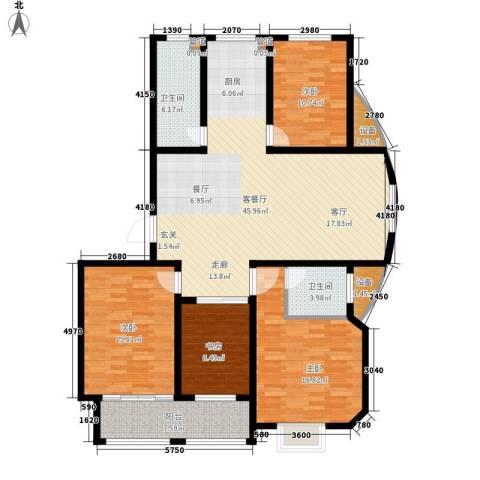 逸景和公馆4室1厅2卫0厨133.00㎡户型图