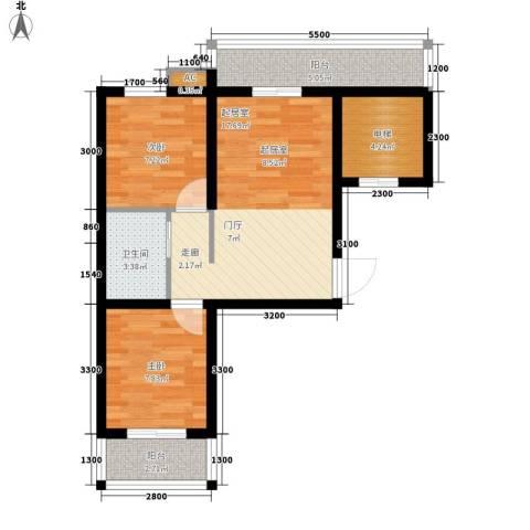 香格里拉・上河湾2室0厅1卫0厨68.00㎡户型图