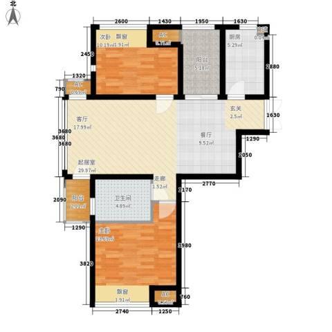 新浦江城2室0厅1卫1厨106.00㎡户型图