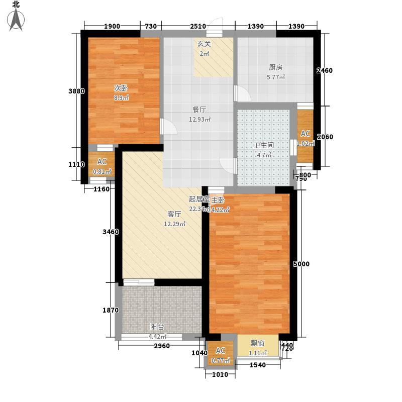 齐门人家73.00㎡高层3#、5#楼标准层B户型