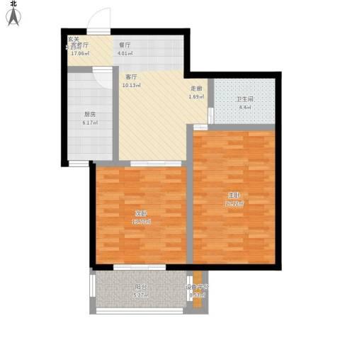 澜点家园2室1厅1卫1厨94.00㎡户型图
