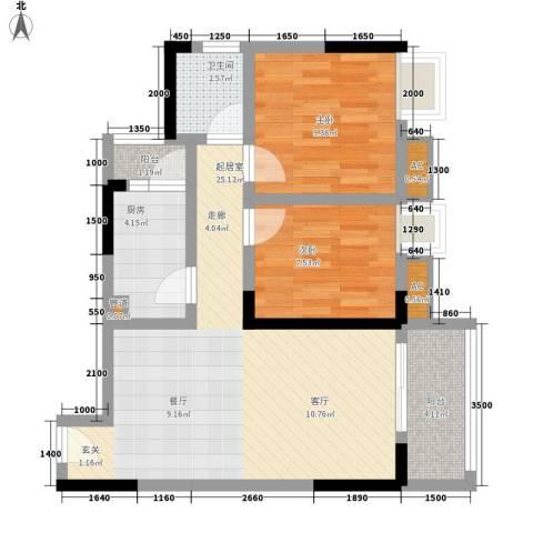 金杜洋光2室0厅1卫1厨61.00㎡户型图