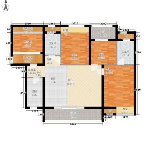 雄森・安仁新城3室0厅2卫1厨163.00㎡户型图