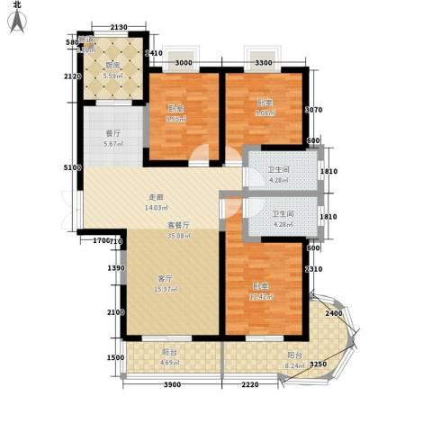 金源皇家园林1厅2卫1厨141.00㎡户型图