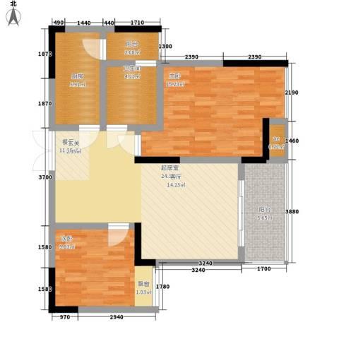 浩博天地2室0厅1卫1厨79.00㎡户型图