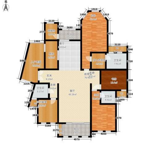 中隆国际御玺3室0厅3卫1厨241.00㎡户型图