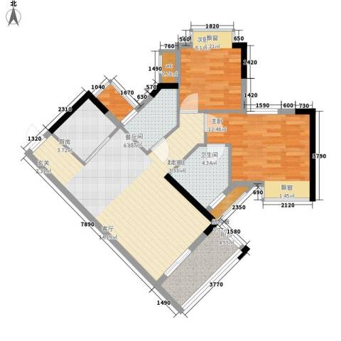 海伦堡御院2室0厅2卫0厨74.00㎡户型图