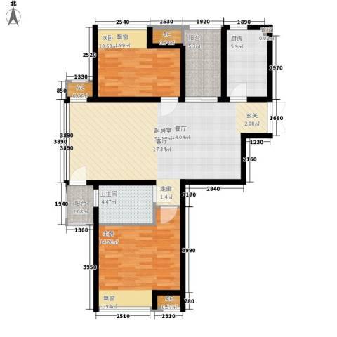 新浦江城2室0厅1卫1厨89.00㎡户型图