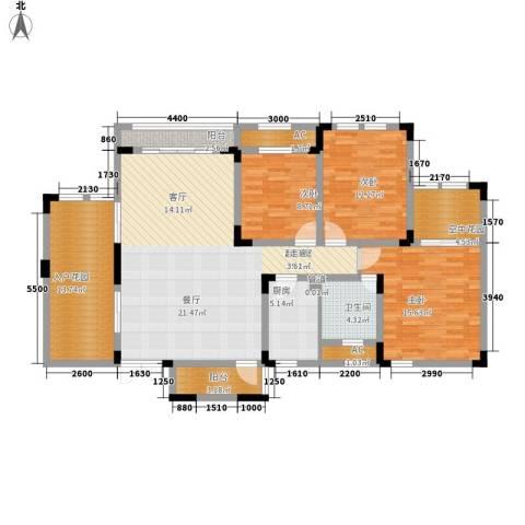 隆鑫花漾湖3室0厅1卫1厨112.01㎡户型图