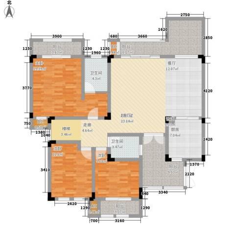 隆鑫花漾湖3室0厅2卫1厨143.00㎡户型图