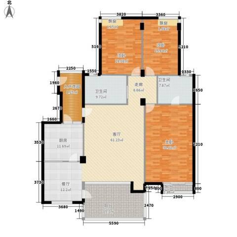 鑫苑都市家园3室1厅2卫1厨179.56㎡户型图