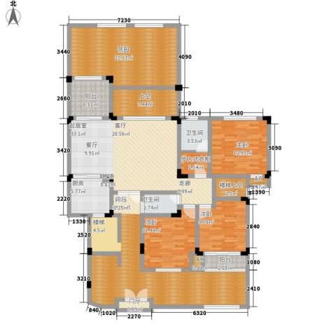 隆鑫花漾湖3室0厅2卫1厨189.00㎡户型图