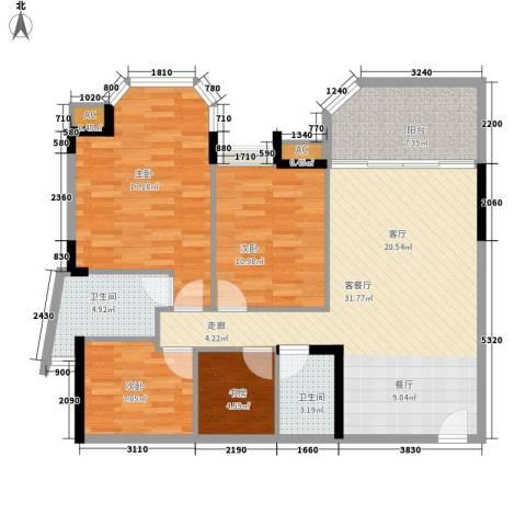 恒生花园4室1厅2卫0厨103.00㎡户型图
