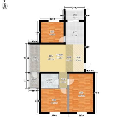 西城首府3室0厅1卫1厨117.00㎡户型图