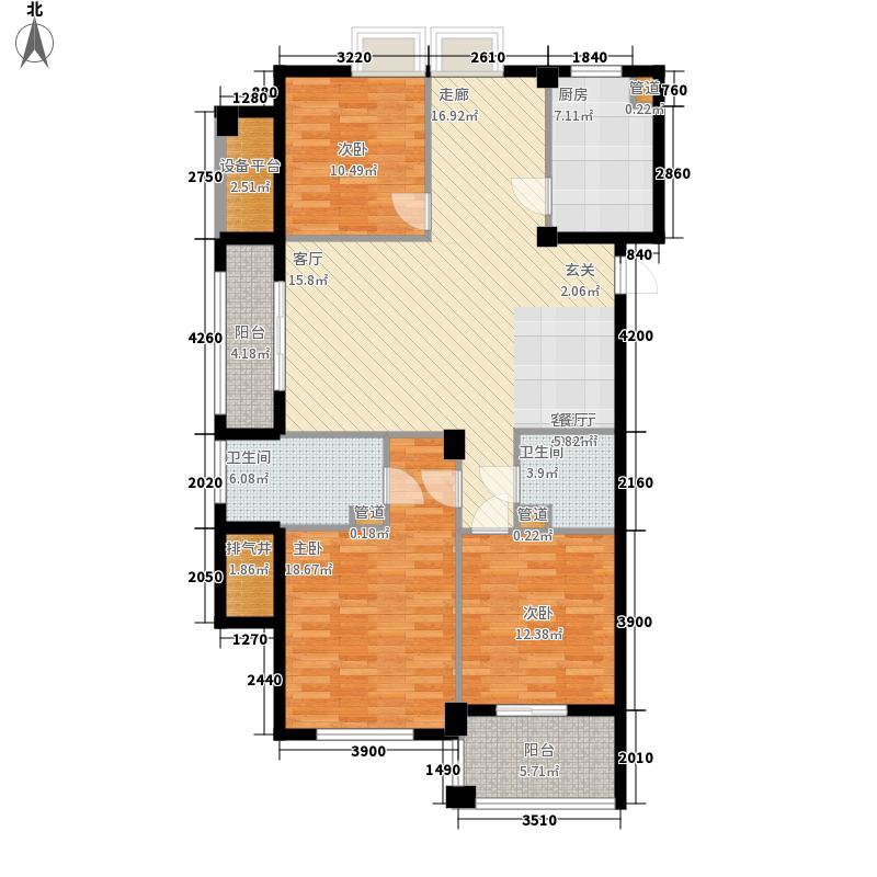 129.00㎡A1户型3室2厅2卫