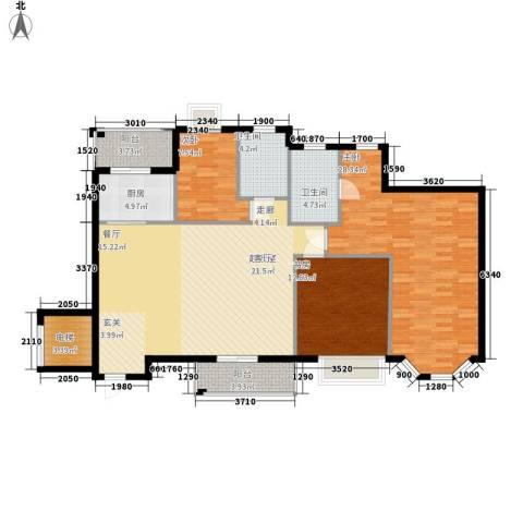 海伦堡御院3室0厅2卫1厨125.00㎡户型图