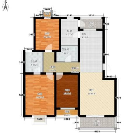 乐东馨园3室1厅2卫1厨149.00㎡户型图