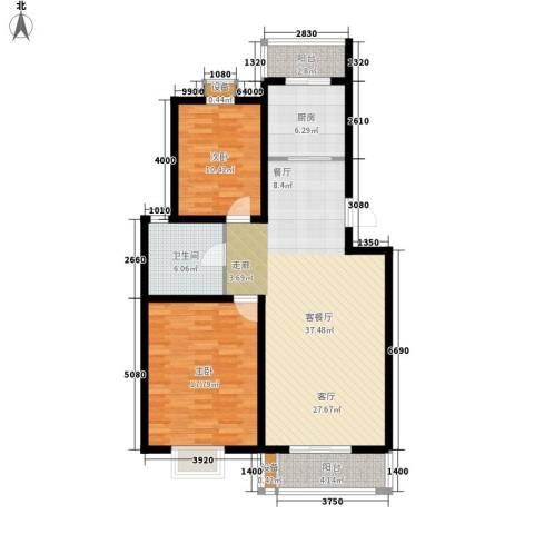 乐东馨园2室1厅1卫1厨122.00㎡户型图