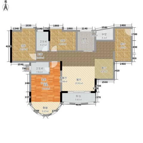 茗雅荟3室1厅2卫1厨133.77㎡户型图