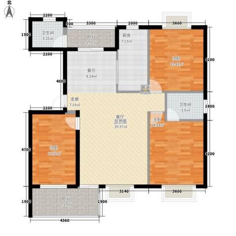 嘉盛阳光山庄3室0厅2卫1厨141.00㎡户型图