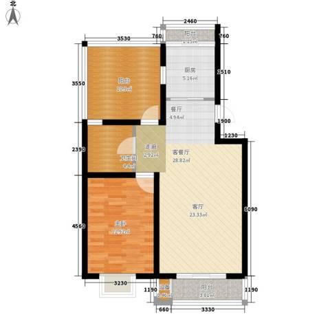 乐东馨园1室1厅1卫1厨96.00㎡户型图