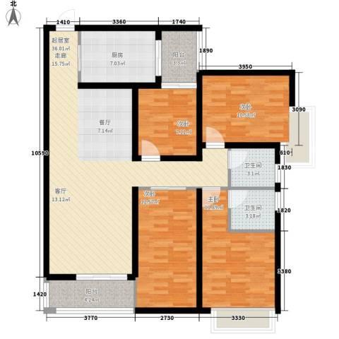 御景园 珠海4室0厅2卫1厨142.00㎡户型图