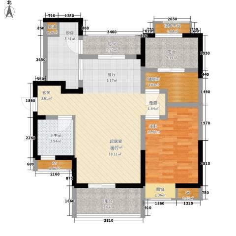峰度天下1室0厅1卫1厨86.00㎡户型图