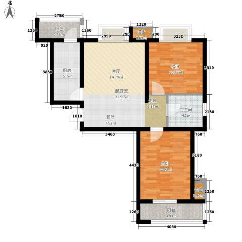 乐东馨园2室0厅1卫1厨93.00㎡户型图